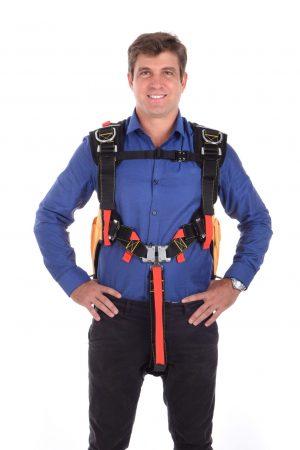 SkySaver 25 Meter, uitvoering FL: oranje rugzak